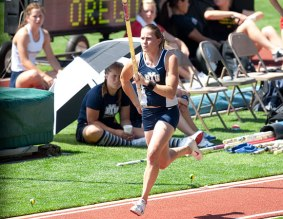 Shanie Bushman School Record holder in the pole vault , Vaulted at BYU