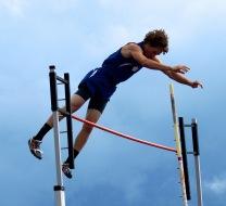 School record holder pole vault peter Sirmon
