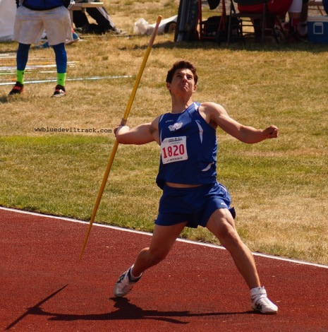 5th at State mens 4A Javelin